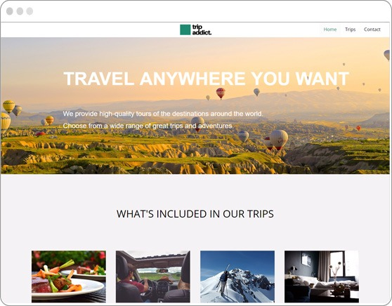 website-sample-travel